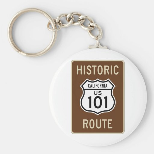 Historic Route US Route 101 (California) Sign Key Chain
