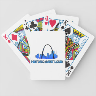 Historic Saint Louis Logo Product Bicycle Playing Cards