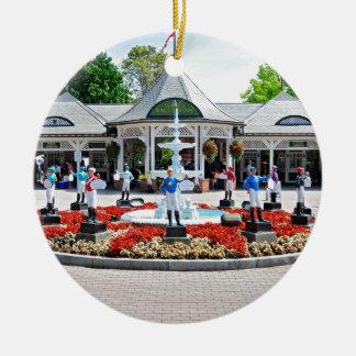 Historic Saratoga 150 on Opening Day Ceramic Ornament