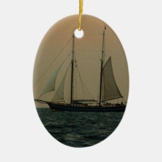 Historic Schooner Ceramic Ornament