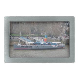 Historic Ship on Thames Belt Buckle