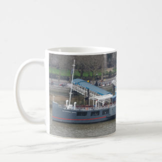 Historic Ship on Thames White Coffee Mug