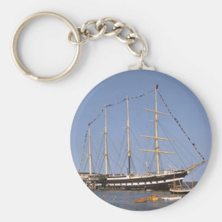 Historic ships basic round button key ring
