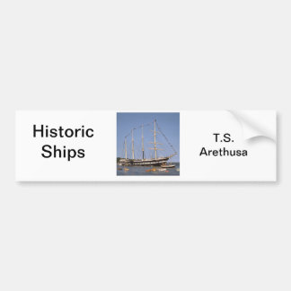Historic ships car bumper sticker