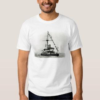 Historic Ships HMS Devastation, dressed overall Tshirt