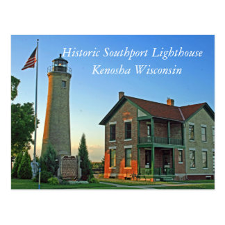 Historic Southport Lighthouse Postcard