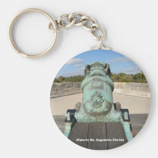 Historic St. Augustine Florida Basic Round Button Key Ring