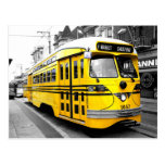 Historic Streetcar with Striking Yellow Colour