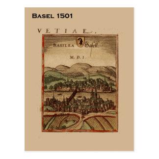 Historic Switzerland, Basel 1501 Postcard