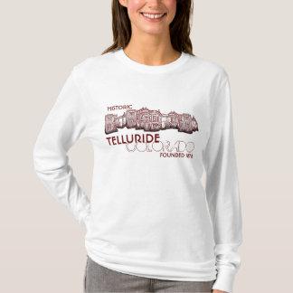 Historic Telluride Colorado old town ladies hoodie