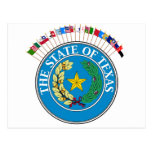 Historic Texas Flags with Seal
