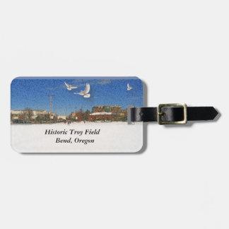 Historic Troy Field luggage tag