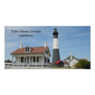 Historic Tybee Island Ga. lighthouse photo card