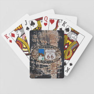 Historic US Route 66 ~ Kingman, Arizona Playing Cards