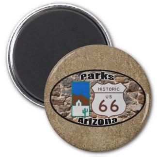 Historic US Route 66 Parks Arizona 6 Cm Round Magnet