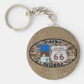 Historic US Route 66~Parks, Arizona Basic Round Button Key Ring