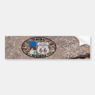 Historic US Route 66 Parks Arizona Bumper Sticker
