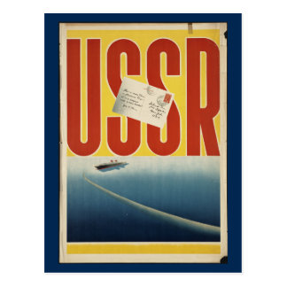 Historic Vintage USSR Travel Poster Postcard