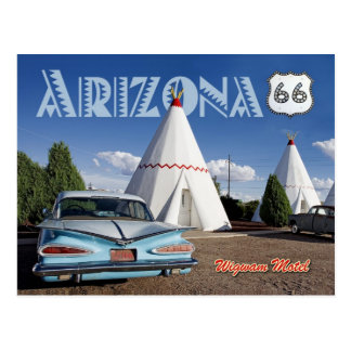 Historic Wigwam Motel, Route 66, Arizona Postcard