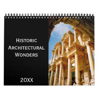 historic wonders wall calendars