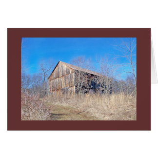 """Historic Wooden Barn on the """"National Pike"""" Card"""