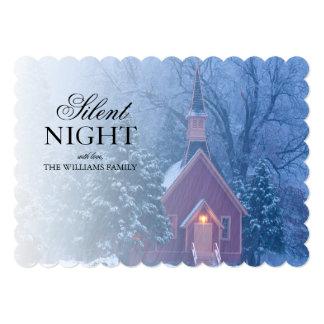 Historic Yosemite Valley Chapel - heavy snowfall 13 Cm X 18 Cm Invitation Card