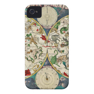 Historic Zodiac Map, 1670 iPhone 4 Covers