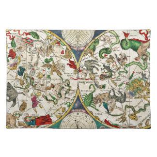 Historic Zodiac Map, 1670 Place Mat