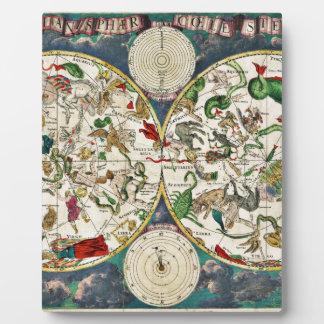 Historic Zodiac Map, 1670 Plaque