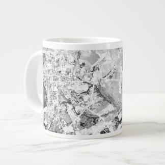 Historical Aerial Photograph of Lawrenceville Large Coffee Mug