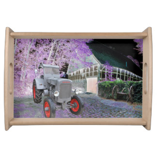 Historical agricultural engineering serving tray