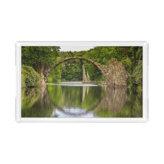 Historical bridge east germany acrylic tray