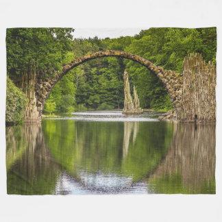 Historical bridge east germany fleece blanket