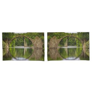 Historical bridge east germany pillowcase