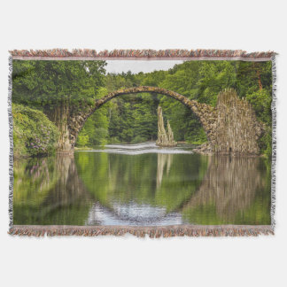 Historical bridge east germany throw blanket