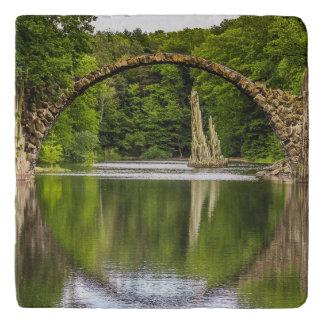 Historical bridge east germany trivet
