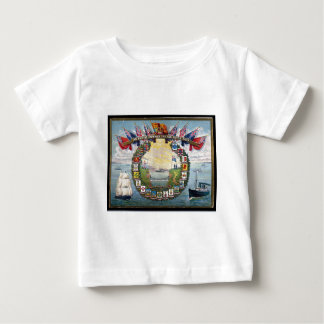 Historical British Colonies Crests Nautical Baby T-Shirt