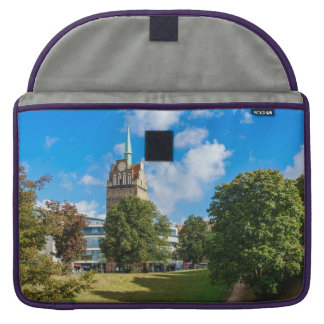 Historical building in Rostock Sleeve For MacBook Pro