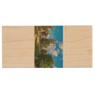 Historical building in Rostock Wood USB Flash Drive