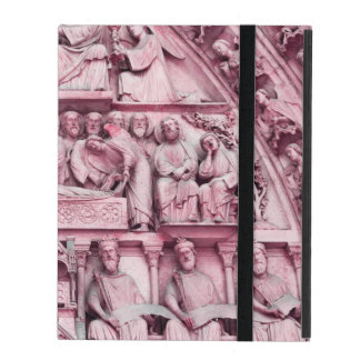 Historical, Christian sculptures Notre Dame Paris iPad Folio Case
