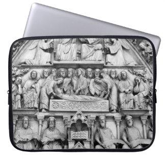 Historical, Christian Sculptures Notre Dame Paris Laptop Sleeve