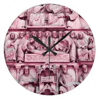 Historical, Christian sculptures Notre Dame Paris Large Clock