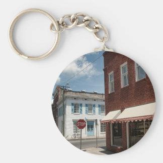 Historical Downtown Savannah Georgia Basic Round Button Key Ring