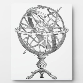 Historical drawing OF A scientific Earth sphere Display Plaque