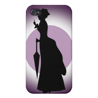 Historical Fashion Rain Woman iPhone 4 Speck Cas Cover For iPhone 4