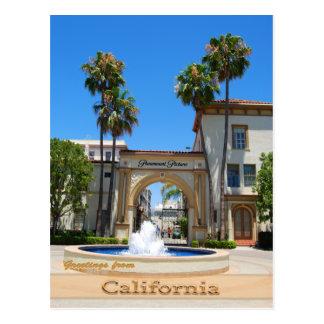 Historical Hollywood California Postcard