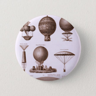Historical Hot Air Balloon Designs 6 Cm Round Badge