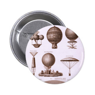 Historical Hot Air Balloon Designs 6 Cm Round Badge