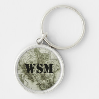 Historical Map Mexico and Guatemala Luggage Tag Keychain