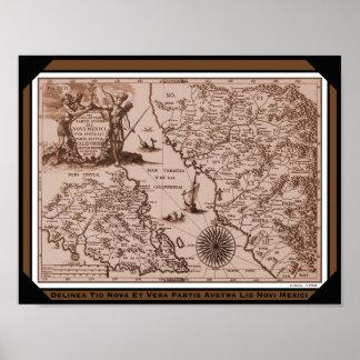 Historical Map Mexico California 1702 poster print